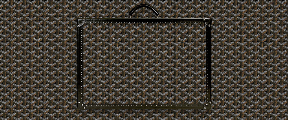Goyardine canvas. Source: www.goyard.com
