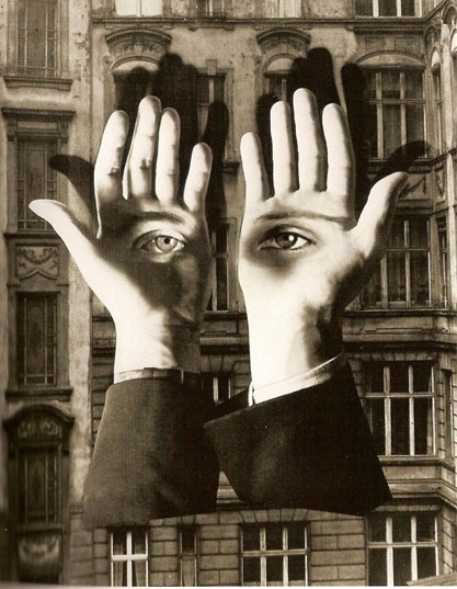 Herbert Bayer – Lonesome City Dweller. Using their favourite tools, scissors and glue, the artists made photomontages, with real or reproduced photographic images taken from the press. Source: http://www.widewalls.ch/dada-collage-readymade/